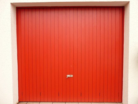 Goal, Garage, Garage Door, Red, Open
