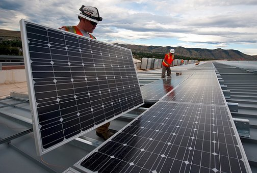Solar Panels, Installation, Workers